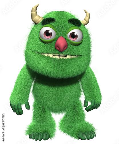 Keuken foto achterwand Sweet Monsters 3d cartoon furry cute goblin