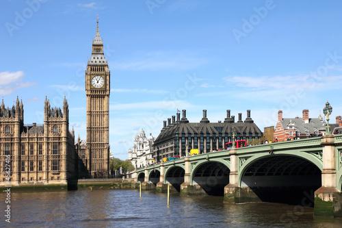 Foto op Canvas Londen Big Ben and Westminster bridge, London