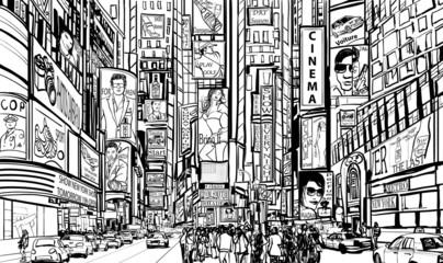 Naklejka street in New York city