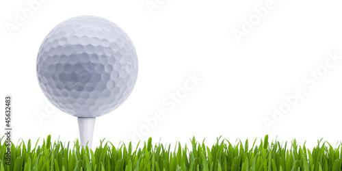 Foto op Plexiglas Golf Golfball auf Tee