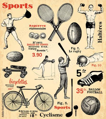 Papiers peints Affiche vintage Sports