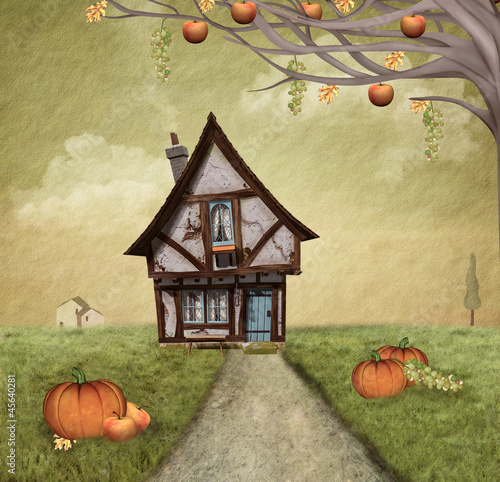 jesienny-dworek-styl-malowany
