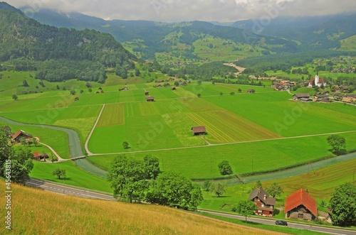 Spoed Foto op Canvas Turkoois Swiss countryside.
