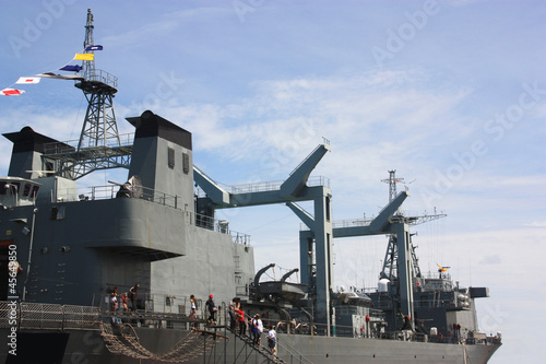 warship  in Thailand Wallpaper Mural