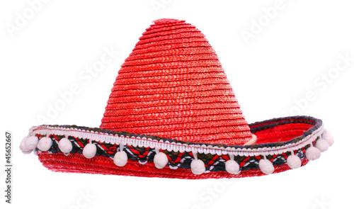 Fotografie, Obraz  Red mexican sombrero.