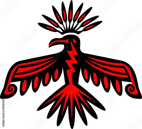Donnervogel - Thunderbird - Native American Symbol Canvas Print