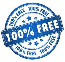 Blue Free Stamp