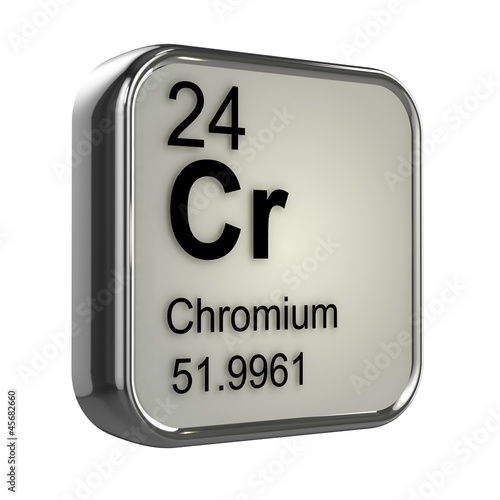 3d Periodic Table 24 Chromium Buy This Stock Illustration And