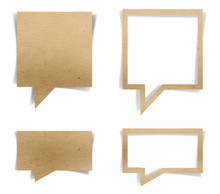 Speech Bubble Paper Craft Stic...
