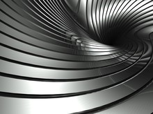 3d Wavy Aluminium Background A...