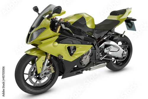 Poster Motorcycle Yellow Sport Motorcycle