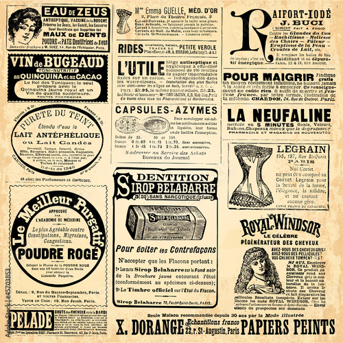 Garden Poster Newspapers Page de pub