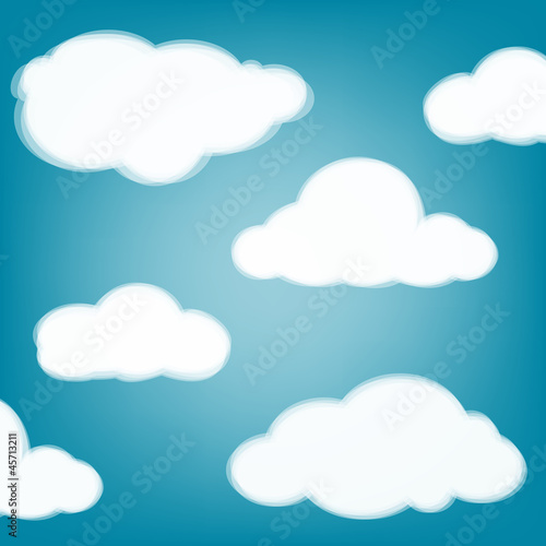 Poster Ciel Sky background with transparent clouds.