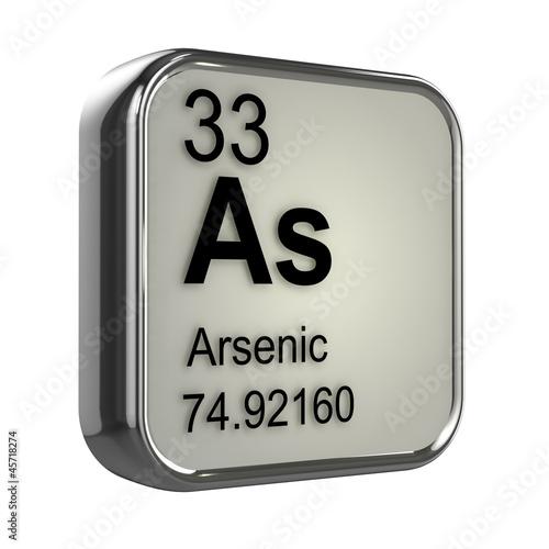 3d Periodic Table - 33 Arsenic Canvas Print