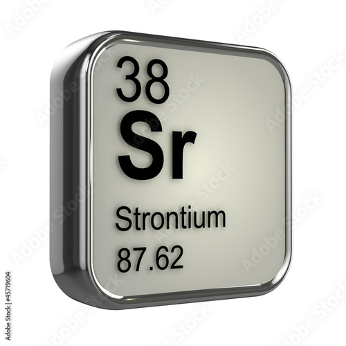 3d Periodic Table 38 Strontium Buy This Stock Illustration And