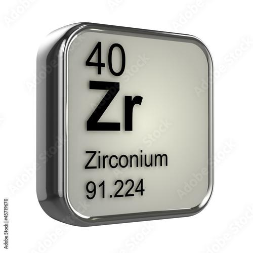 Fotografia, Obraz  3d Periodic Table - 40 Zirconium