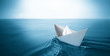 canvas print picture - paper boat