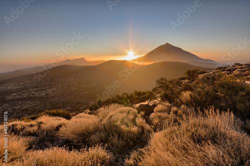 Fotografia  Atardecer junto al Teide