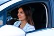 Attractive female driver