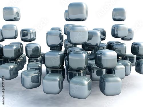 Fototapeta 3D kostki