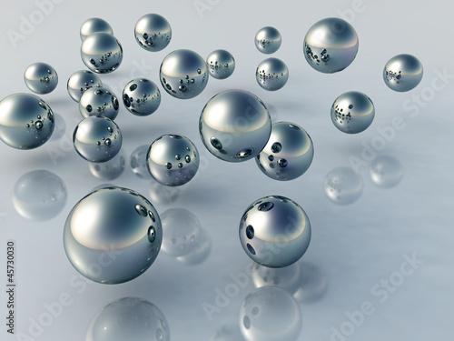 Obrazy wieloczęściowe 3D kule