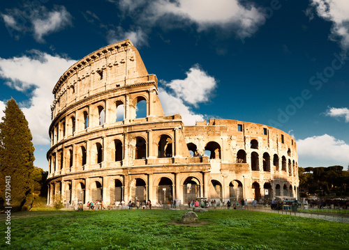 Poster Rome Colosseum in Rome, Italy