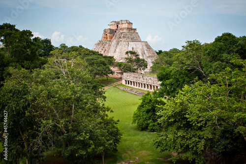 Photo sur Toile Mexique Mayan pyramid, Palenque, Mexico
