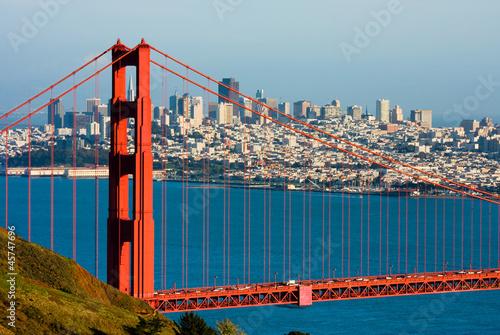 Photo  Golden Gate Bridge and downtown San Francisco