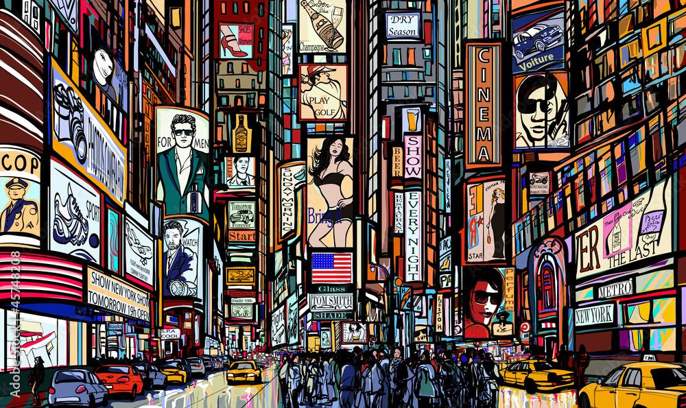 Fototapety, obrazy: street in New York city