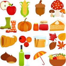 Cute Vector Icons : Autumn / F...