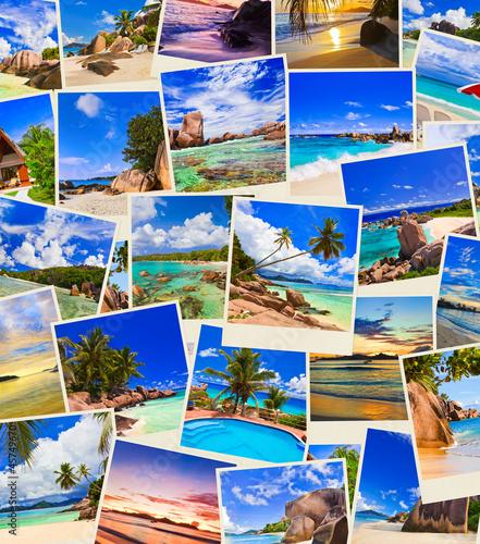 Photo Stands Caribbean Stack of summer beach shots