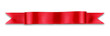 canvas print picture - Red ribbon banner