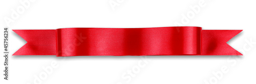 Fotografie, Obraz  Red ribbon banner