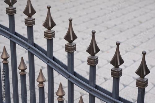 Zaun mit Verzierung Canvas Print