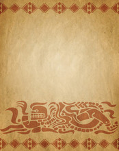 Background In American Indian Style