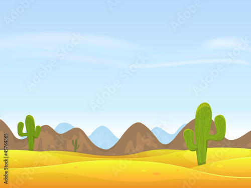 Aluminium Prints Wild West Desert Landscape Background