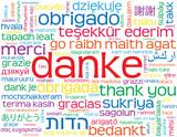 """""""DANKE"""" Karte (Vielen Dank Freundlichkeit Frieden Schön Sehr)"""