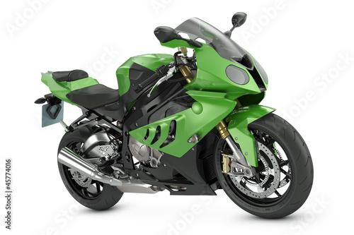 Wall Murals Motorcycle Green Sport Motorcycle