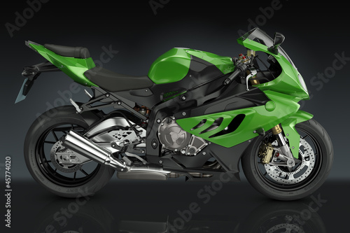La pose en embrasure Motocyclette Sport Motorcycle
