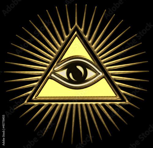 Akustikstoff - Allsehendes Auge Gottes - Pyramide - Trinität
