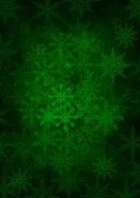 Green Snowflakes - Christmas Texture
