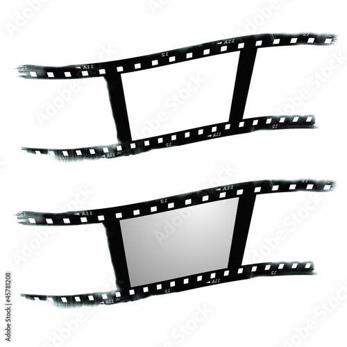 Papiers peints Retro Old blank film strip isolated on white