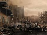 Fototapeta Miasto - Zniszczone miasto