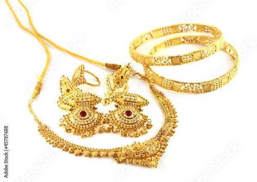 Foto  Hochzeit Goldschmuck für indische Braut