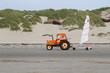 tracteur et char à voile