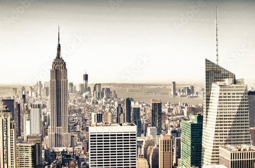 Fototapeta New York wiezowce-w-panoramie-nowego-jorku-dzielnica-manhattan