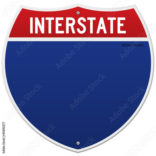 Fotografía  Isolated Interstate Sign