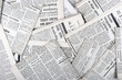 canvas print picture background of old vintage newspapers