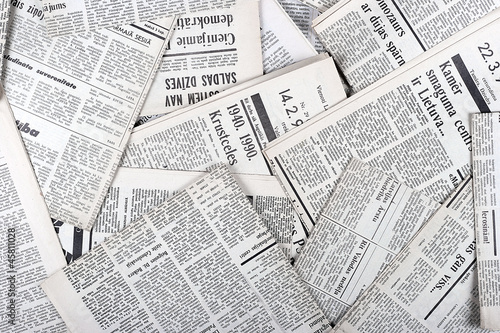 Photo sur Toile Journaux background of old vintage newspapers