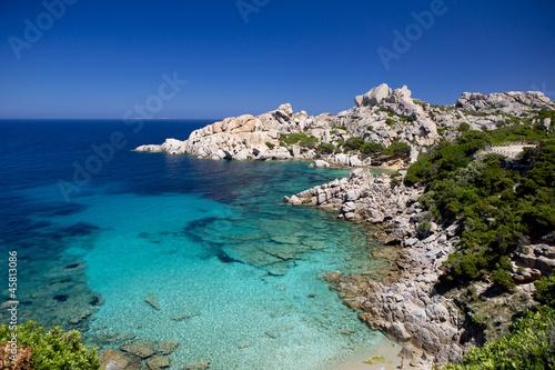 Foto-Schiebegardine Komplettsystem - Strand Sardinien Capo Testa